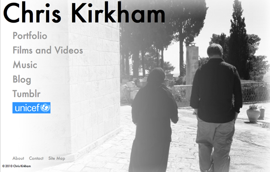 bw Chris Kirkham Site Redesign