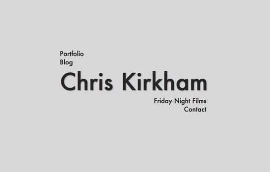 newbackground Chris Kirkham Site Redesign