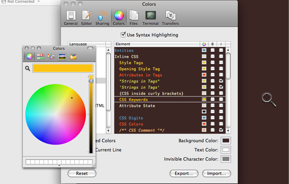 selectcolors Create your own SeeStyles Theme For Coda