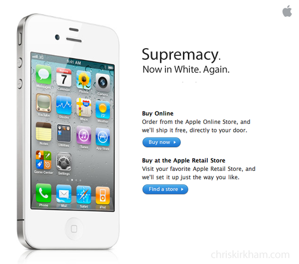 iphone5 White iPhone: My Advertising Suggestions